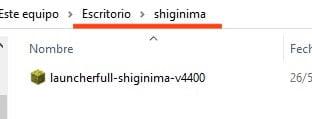 11 Shiginima Instalado En Otra Ubicacion Windows