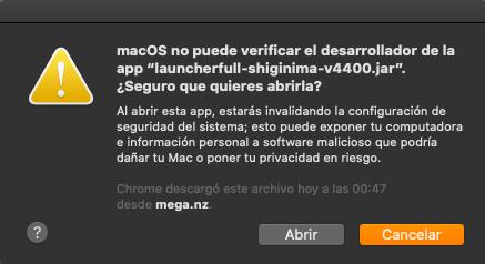 Abrir Shiginima Launcher Mac Ios