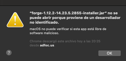 Forge 1 12 2 Mac Cannot Open Because It Comes From